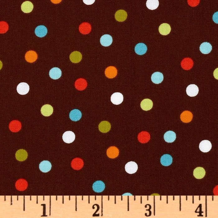 Manufacturer: Kaufman Collection: Remix Remix Polka Dots Chocolate