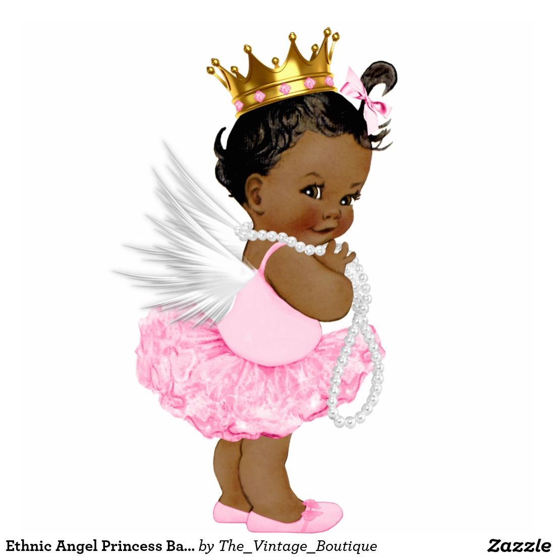 Ethnic Angel Princess Baby Girl Shower Cutout Zazzle Com