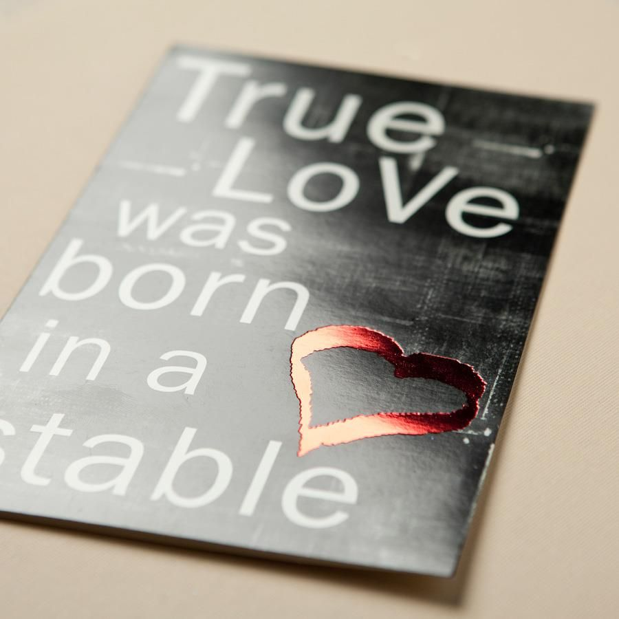 True Love was Born in a Stable - 25 Christmas Cards