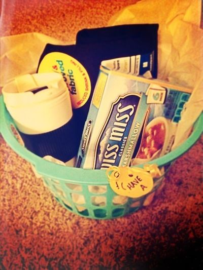 How to make a gift basket. Cozy Sweatpant Christmas Gift Basket! - Step 1