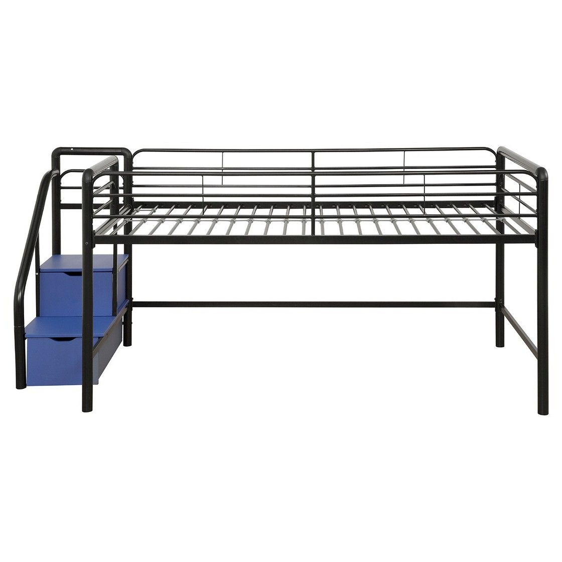 Twin loft bed with stairs and storage  Junior Loft Bed With Storage Steps  Twin  BlackSilver  Dorel