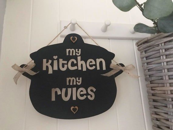 My Kitchen Rules Wall Hanging Sign/Plaque LSK001 #kitchenrules My Kitchen Rules Wall Hanging Sign/Plaque LSK001   Etsy #kitchenrules