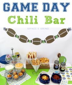 Super Bowl Game Day Chili Bar