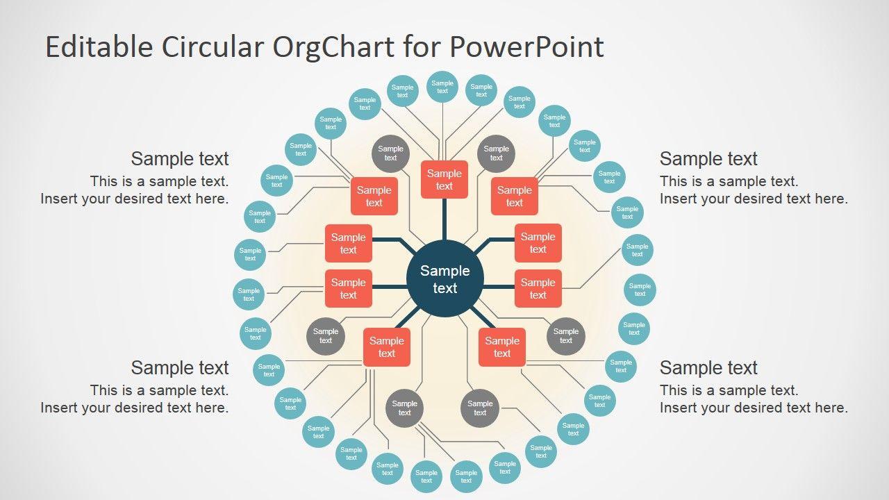 Editable Circular Org Chart Powerpoint Chart Templates Powerpoint