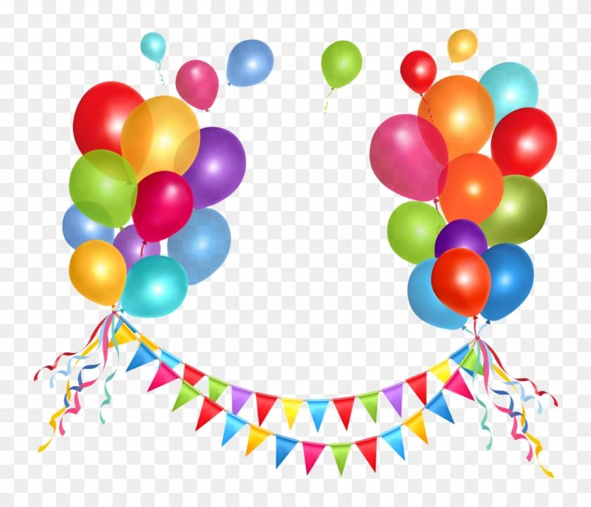 Download And Share Clipart About Transparent Party Streamer And Balloons Png Clipart Happy B With Images Happy Birthday Balloons Birthday Balloons Birthday Party Balloon