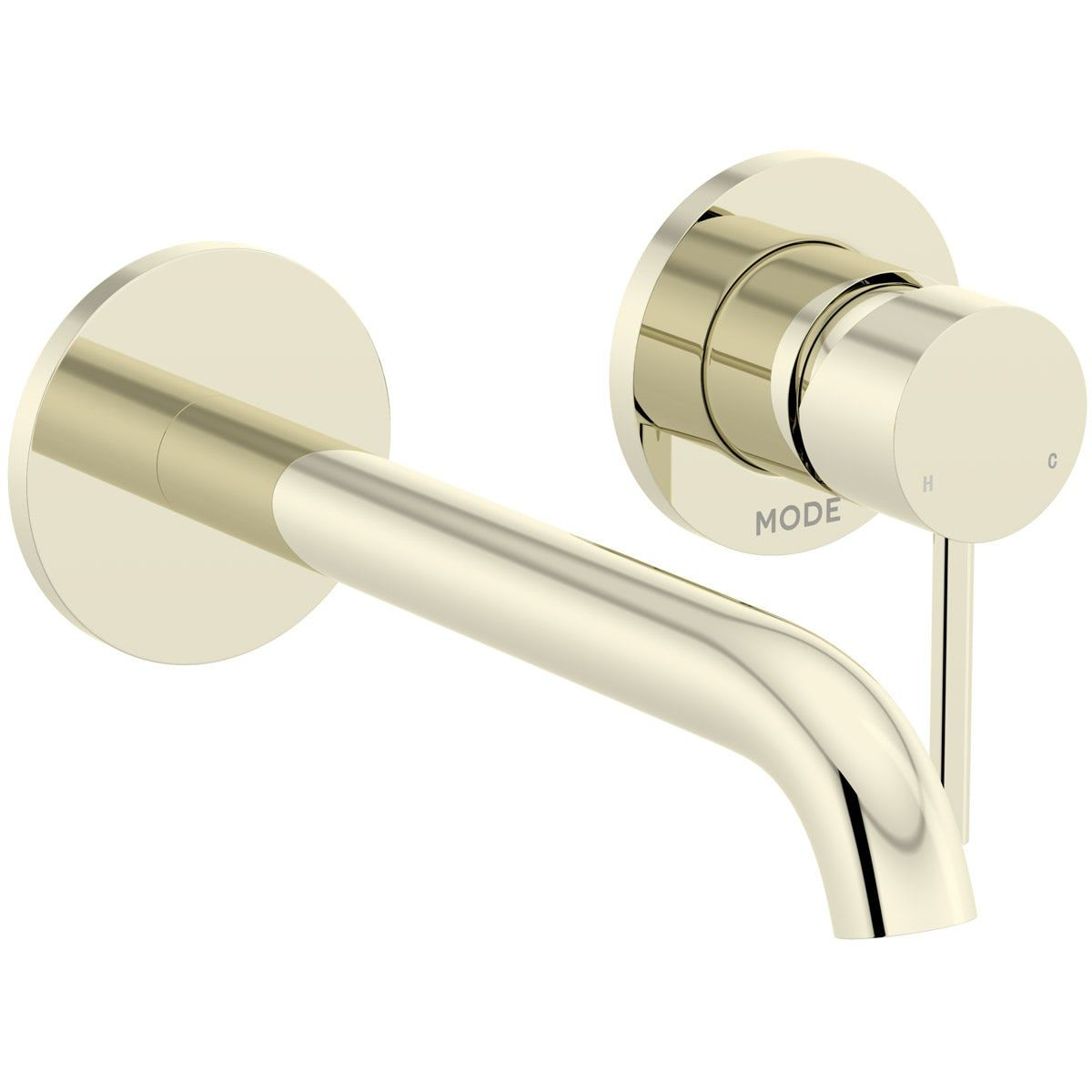 Mode Spencer Round Wall Mounted Gold Bath Mixer Tap Bath Mixer Taps Bath Mixer Mixer Taps