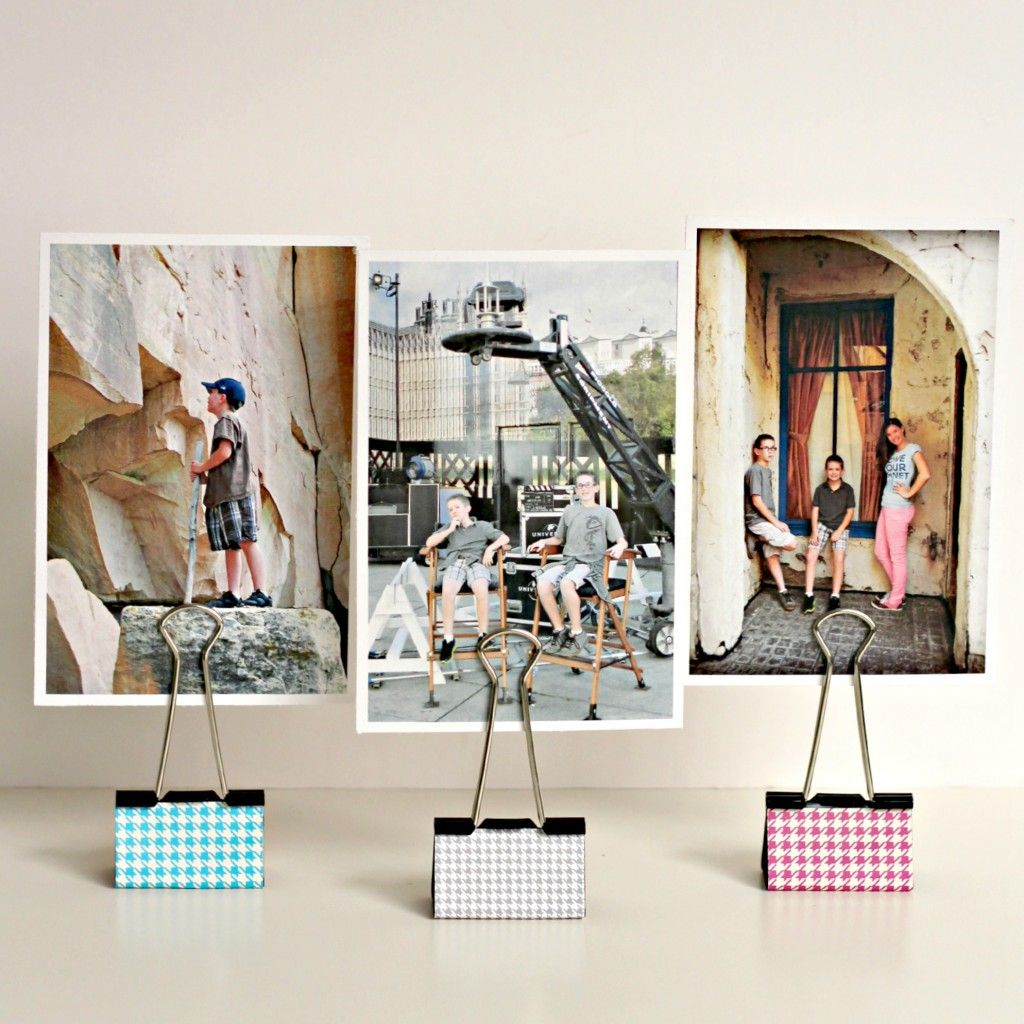Binder Clip Photo Holders Diy Photo Holder Photo Centerpieces Diy Holder