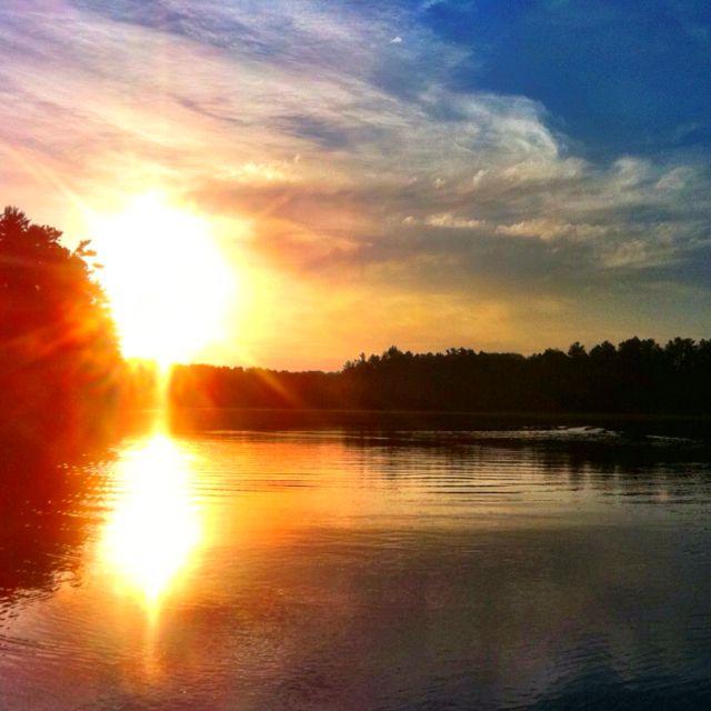 Sunrise on Lake McDonald near Eagle River, WI