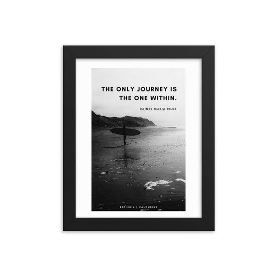 Rainer Maria Rilke Quote The only journey is the one within | Framed Print Poster Poem Poetry Inspiring Inspiration Motivational Motivating