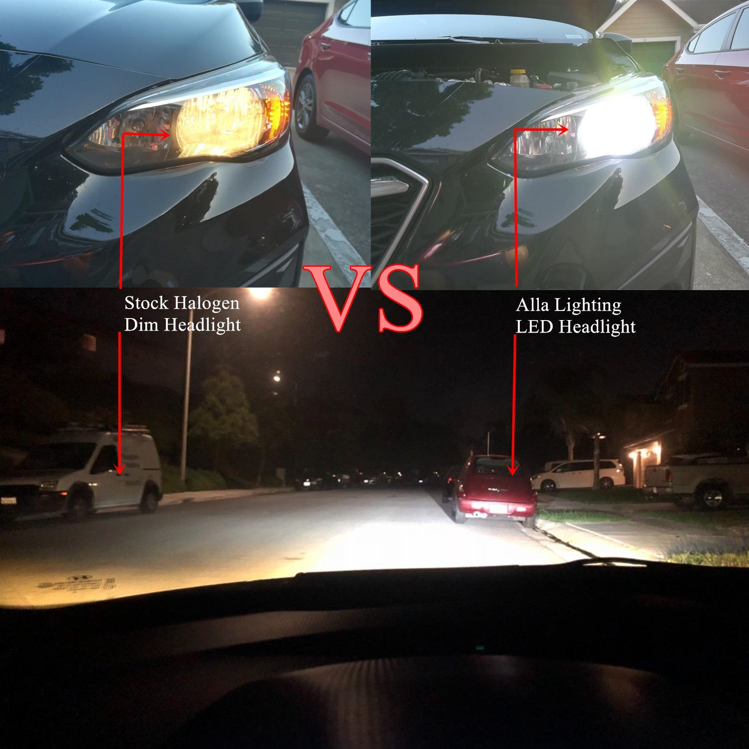 Big Difference For Halogen Headlamp Vs Alla Lighting Led Headlight