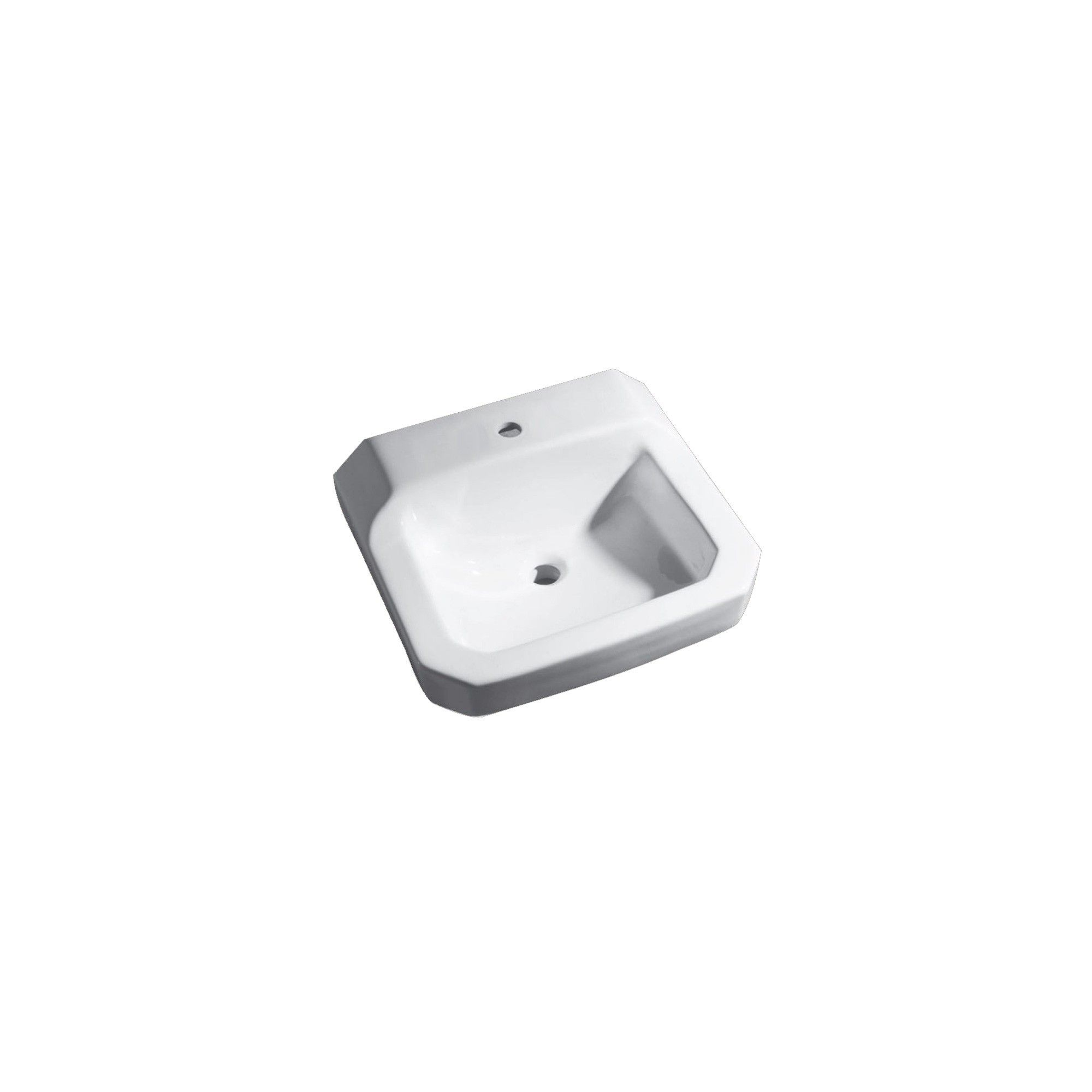 Proflo Pf5411 19 Wall Mounted Bathroom Sink With 1 Hole Drilled