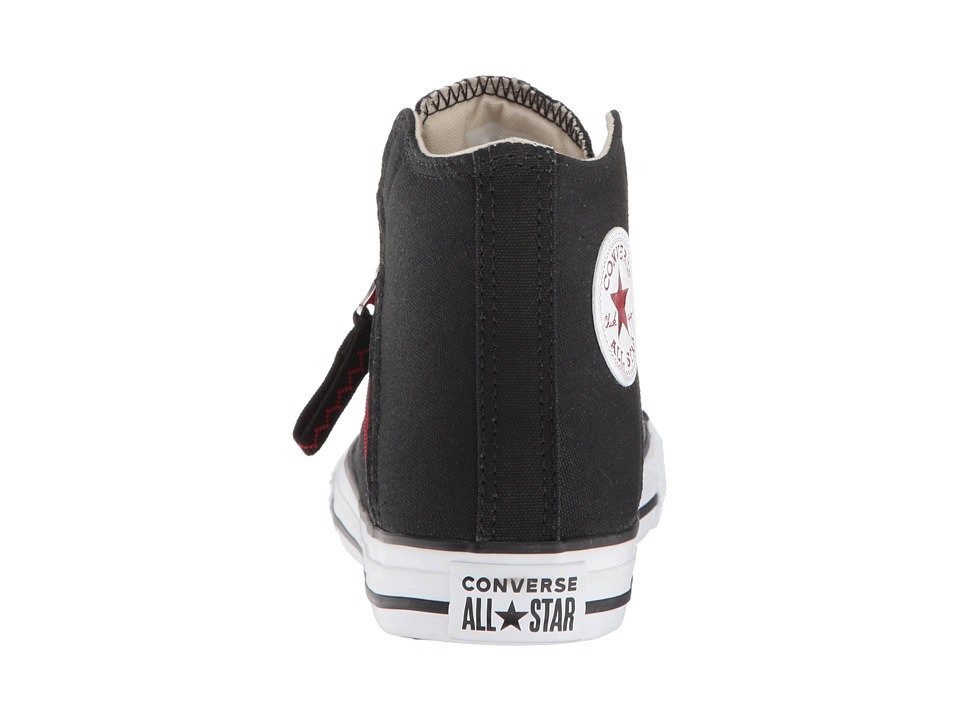4cd34aaa7cdf Converse Kids Chuck Taylor(r) All Star(r) Pull-Zip - Hi (Little Kid Big  Kid) Boys Shoes Black Enamel Red White
