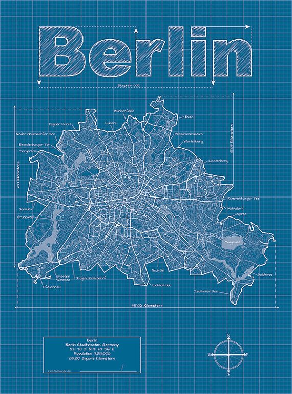 Berlin Map Berlin Wall Map Berlin Street Map Berlin Art Berlin Poster Map Map Art Print Map Art Map