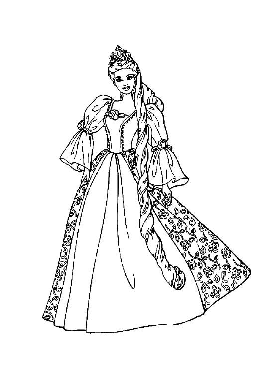 Barbie With Beautiful Dress Coloring Pages Barbie Coloring Pages Kidsdrawing Barbie Coloring Pages Princess Coloring Pages Disney Princess Coloring Pages