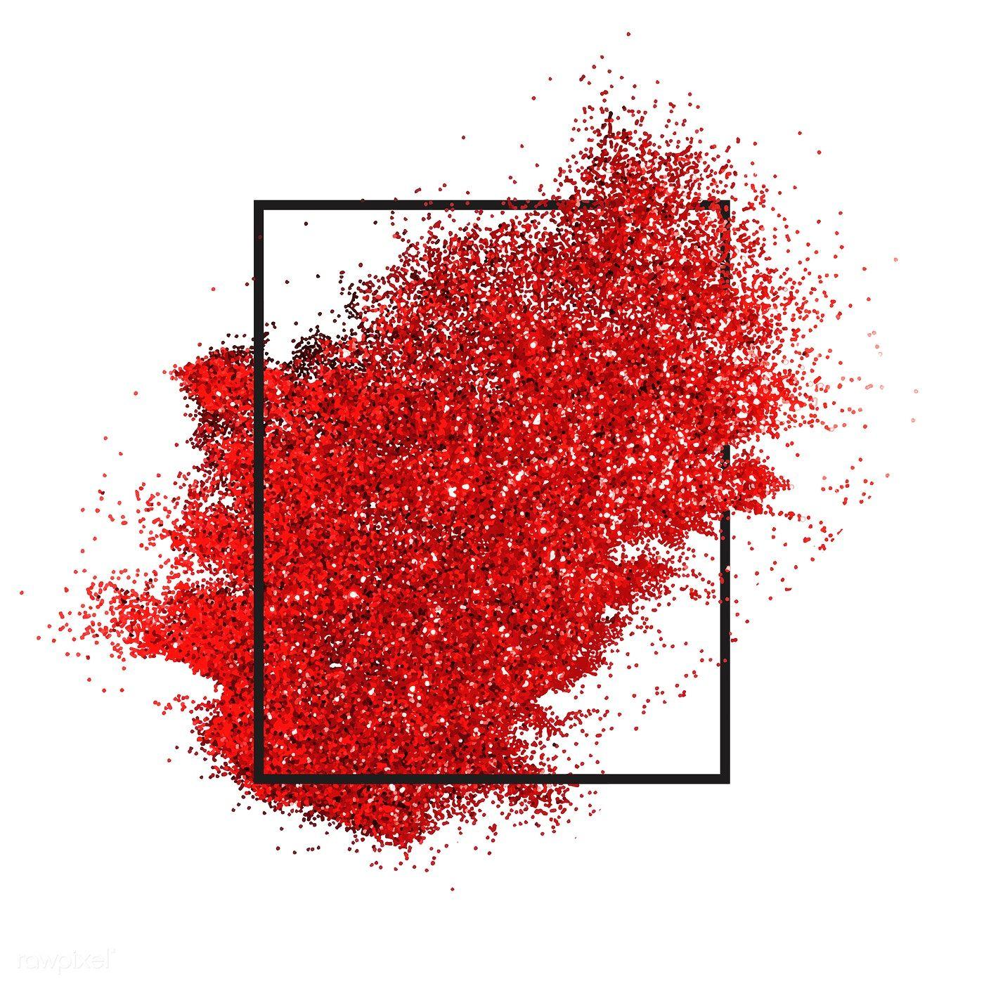 Red Sprinkled Glitter Badge Vector Free Image By Rawpixel Com Ake Abstraktnye Fony Krasnyj Fon Dizajn Karty