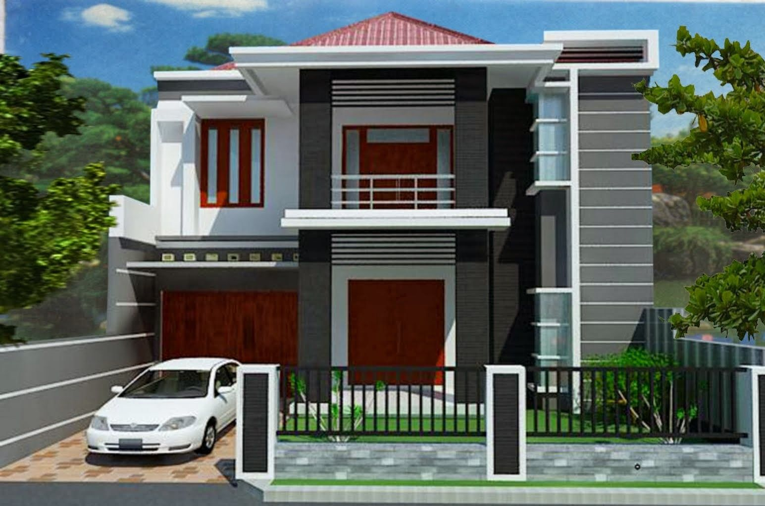 House Minimalis minimalist house design level two | desain rumah minimalis dua