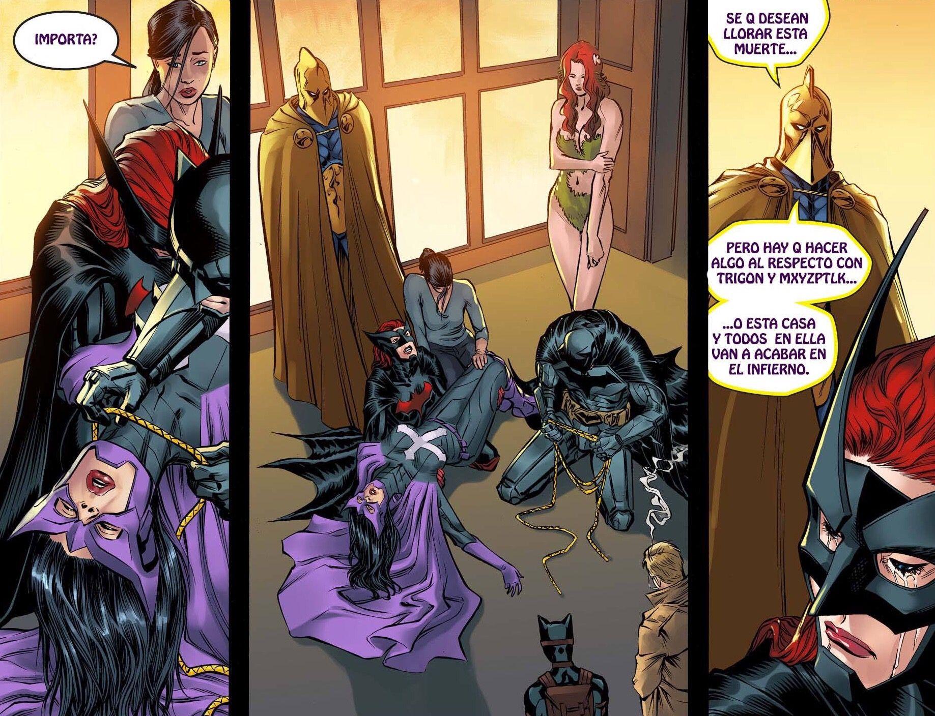 Huntress. Batwoman. Batman. Poison Ivy.
