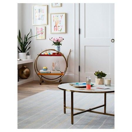 target com round coffee table. berwyn round coffee table metal and
