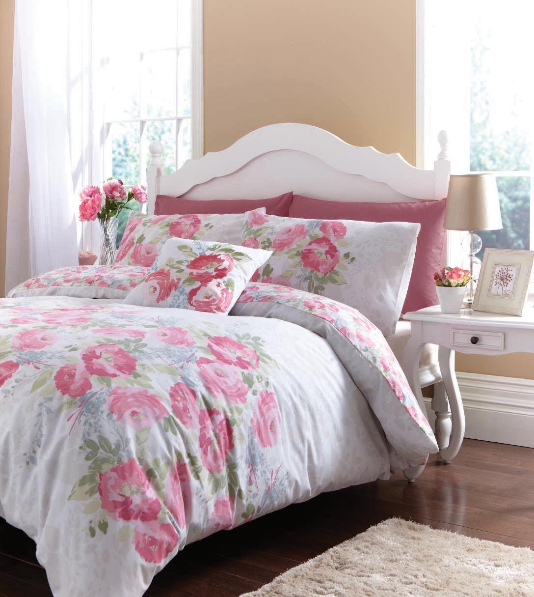 Floral Bedding / Bed Linen, Discount Duvet Cover Set Red