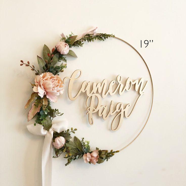 wreath shower hoop nursery floral flowers backdrop nancymomo
