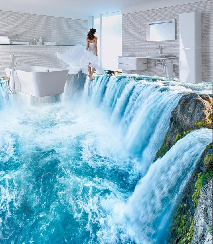 Grosshandel Dekoration 3d Wasserfall Wohnzimmer Boden