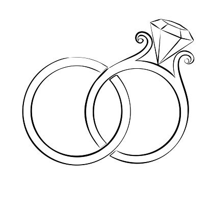 Wedding Ring Clipart.Wedding Ring Clipart Szukaj W Google Print Wedding Drawing
