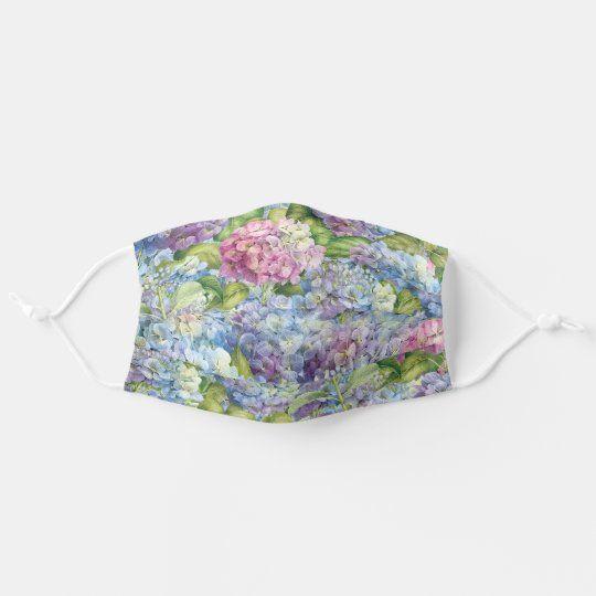 Floral Blue Lavender Hydrangea Pattern Adult Cloth