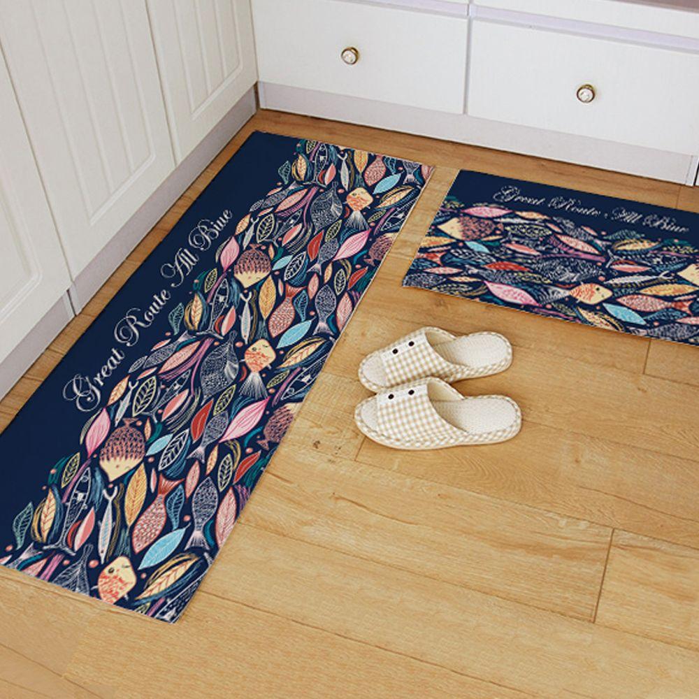 Yazi Flannel Blue Fish Kitchen Rug Soft Plush Colorful Floor Door Mat Bedroom Ar With Images Minimalist Home Furniture Minimalist Interior Living Room Minimalist Decor Diy