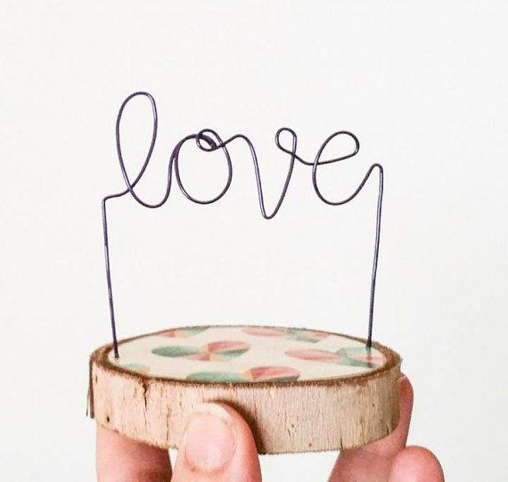 Love Decor Wedding Decor Cake Topper Bridal Shower Decor