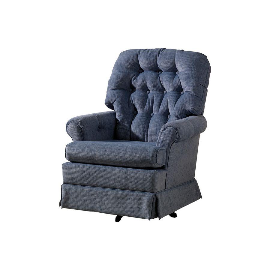 Swivel Rocker Blue Recliner Chair Furniture Rocker