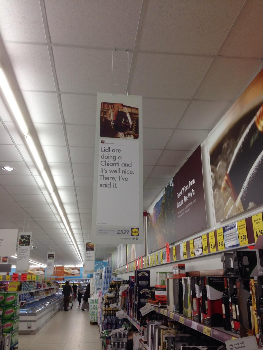 Nice idea from @LidlUK MT @balconyshirts: Lidl have used my Tweet in their stores.