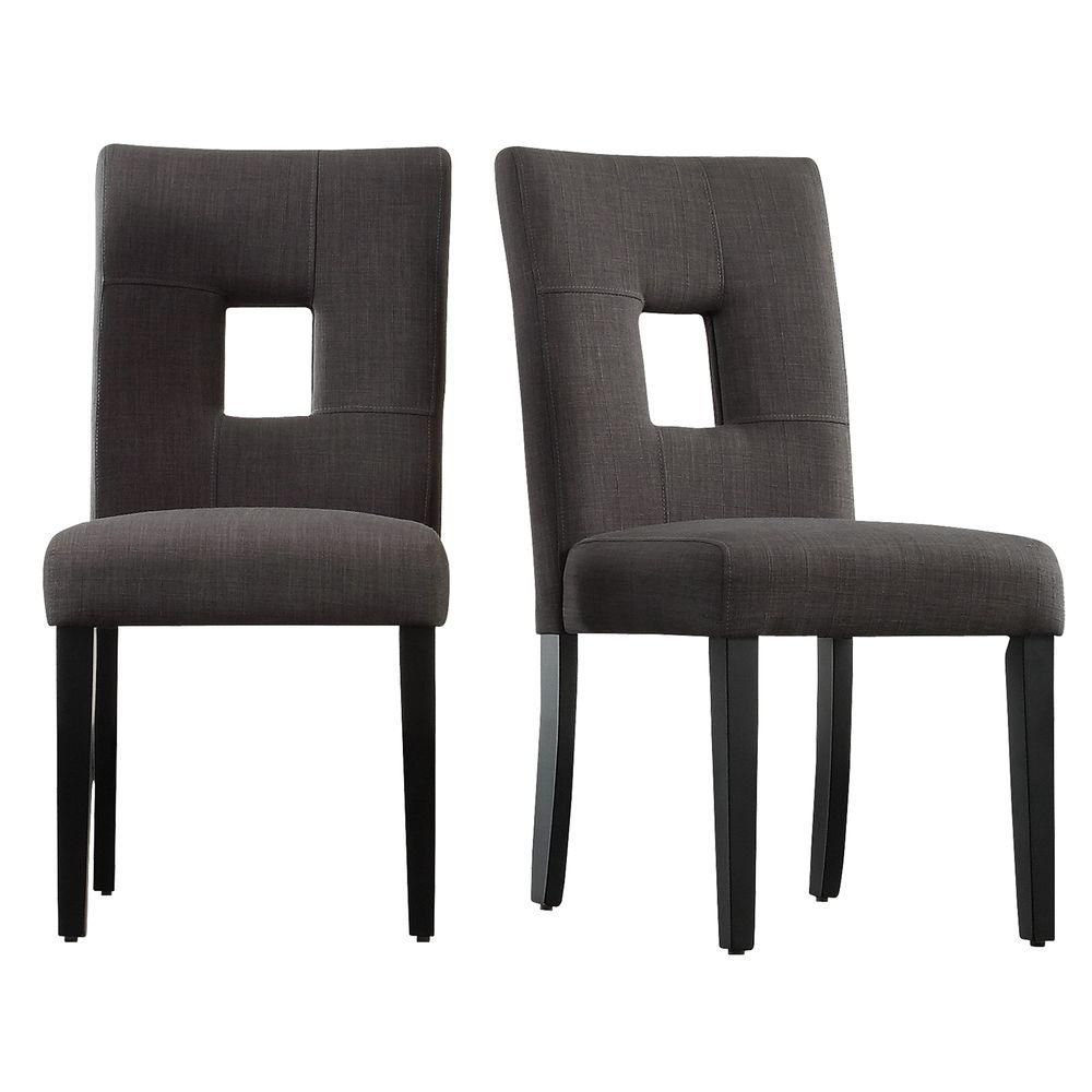 Homesullivan Sorrento Charcoal Linen Dining Chair Set Of 2