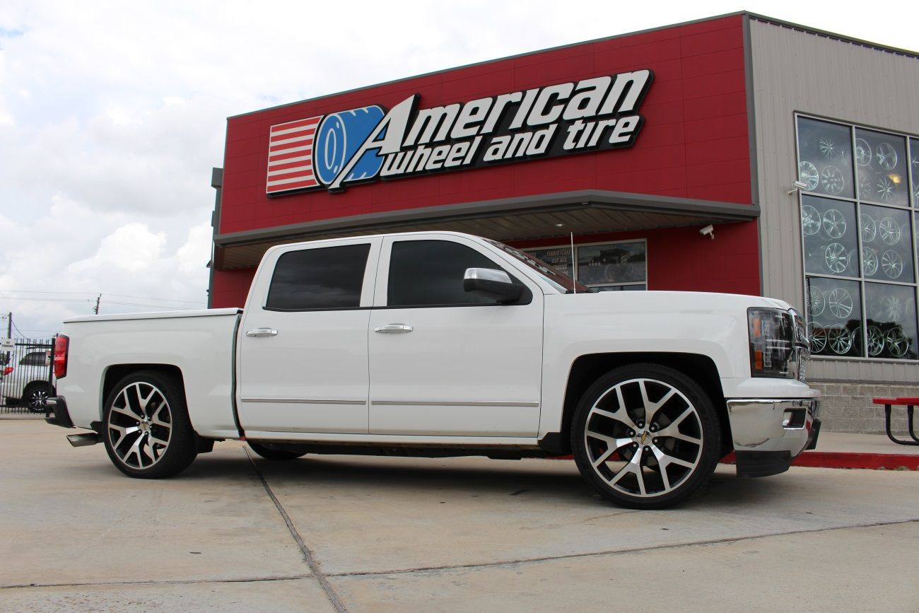Pin By American Wheel And Tire On Custom Wheels Tires Chevrolet 2015 Chevy Silverado High Country Oe Replicas 2014 Sierra In Gloss Black Machined A 1500
