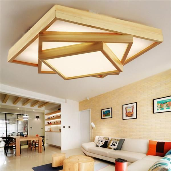 Modern Wood Led Ceiling Light Cl181 Ceiling Lights Living Room Home Ceiling Bedroom False Ceiling Design