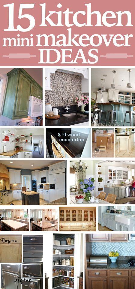 15 kitchen mini makeover ideas! | Kitchen Makeovers | Pinterest