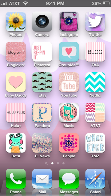 Customize your phone with cute icons...why yes I did. Use