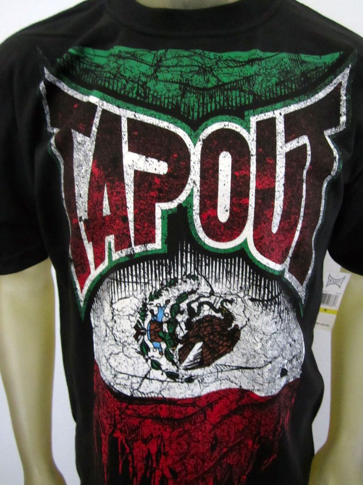 NWT Tapout men's UFC MMA Fight gear War Boxing Mexico flag tee shirt