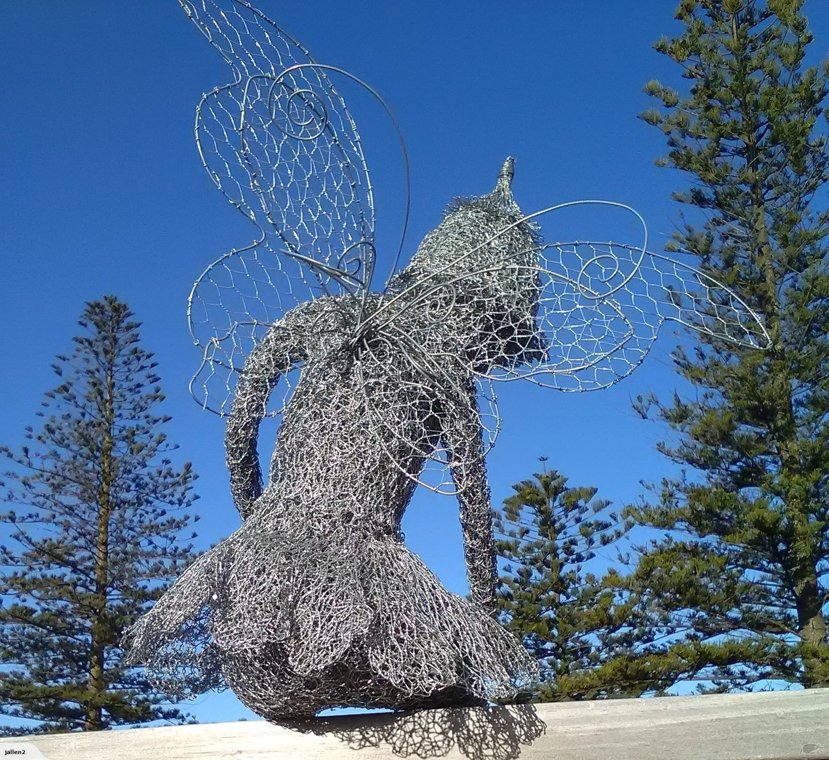 Chicken wire sculpture - SITTING FAIRY - | Trade Me | I have made ...
