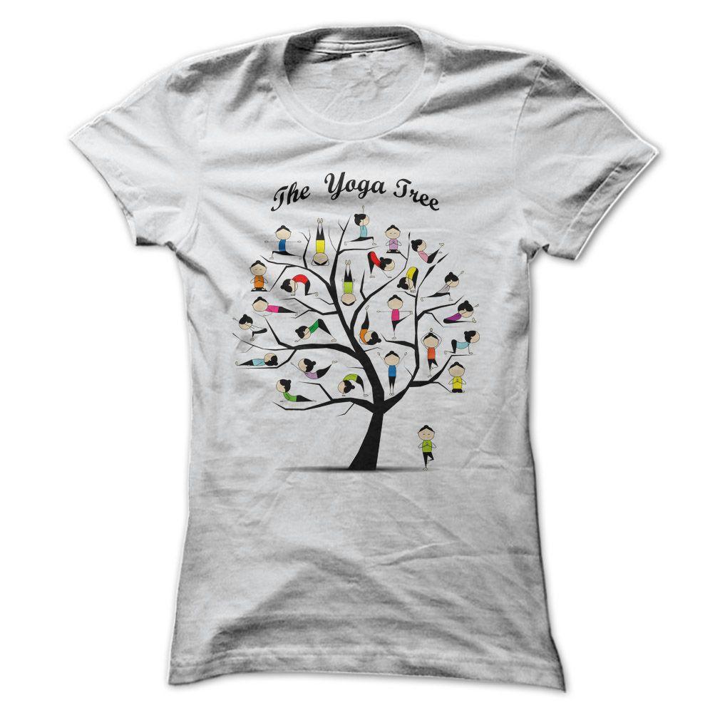 Womens T Shirt Yoga Tree Pose T Shirt Hoodie Sweatshirt Yoga Tree Yoga Tree Pose T Shirts For Women