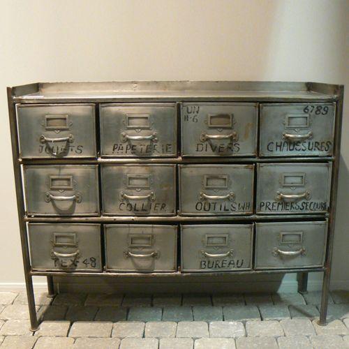 meuble de rangement en m tal 12 tiroirs fabrique hanjel meuble de rangement achat meuble et. Black Bedroom Furniture Sets. Home Design Ideas