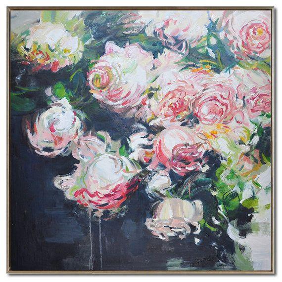 abstrakte blumen lgem lde auf leinwand von celineziangart auf etsy art flowers in 2018. Black Bedroom Furniture Sets. Home Design Ideas