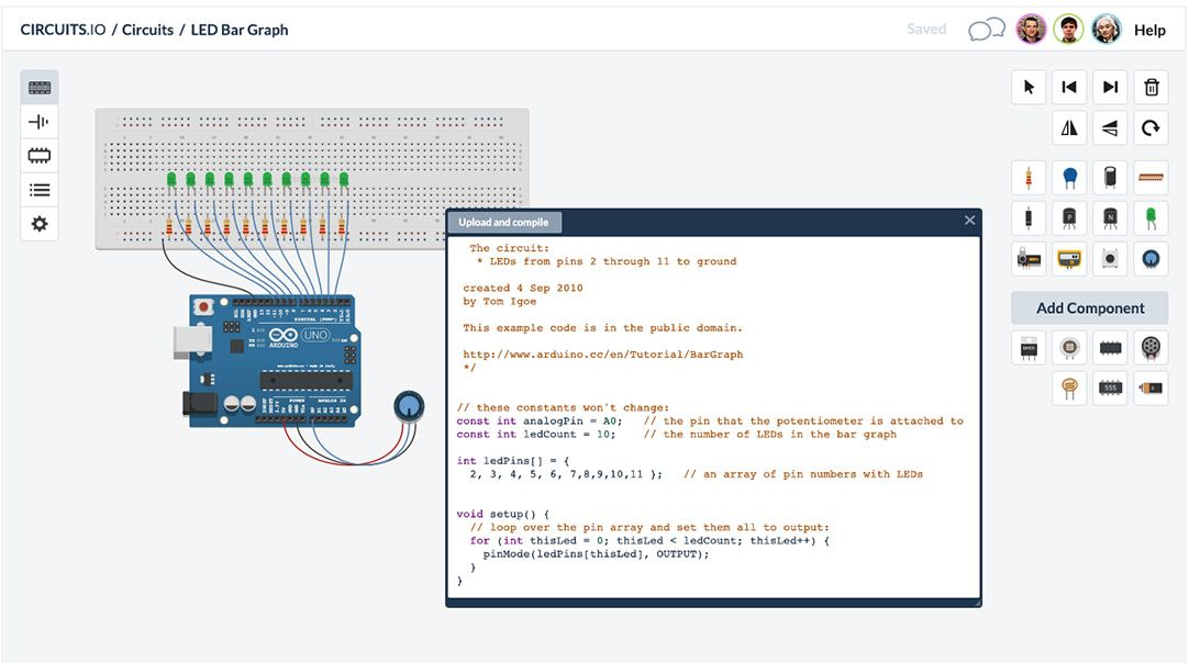 123D Circuits Simulate Arduino online and easily create custom ...