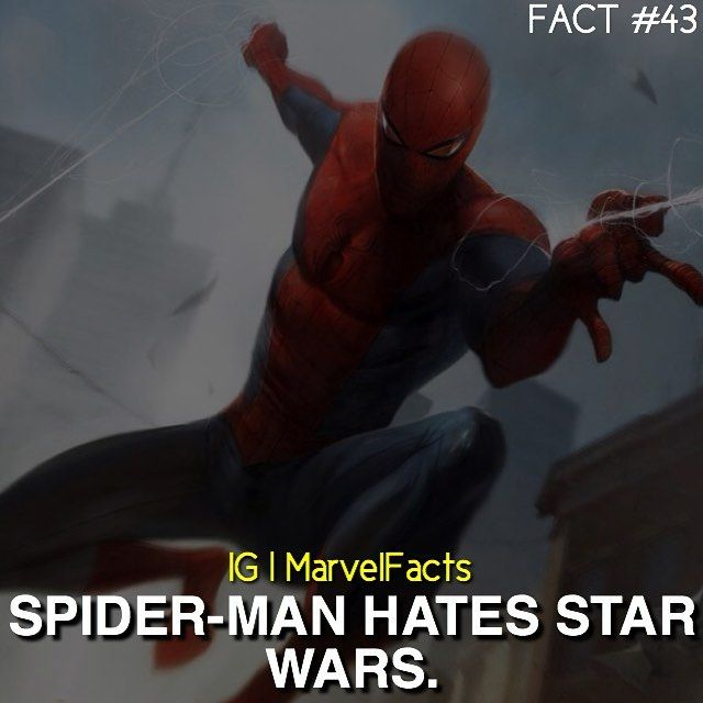 Woah now Spider-Man. Don't make me disown you as my favorite Marvel hero.