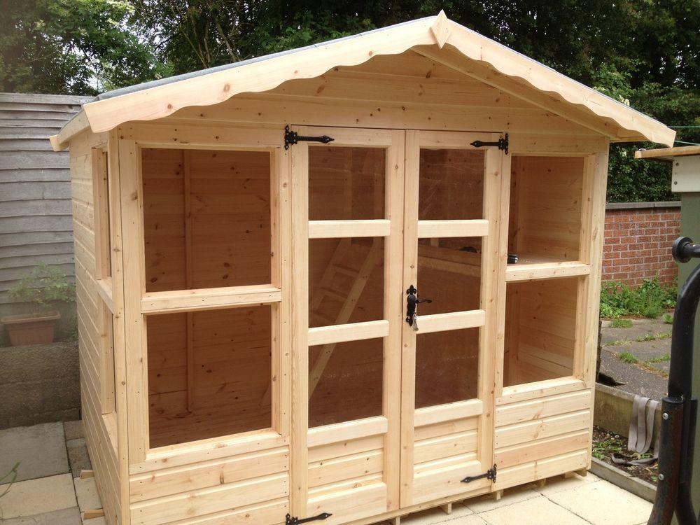 Garden Sheds 8x6 8x6 summer house (cabin) (wendy house )(play house)(wooden garden