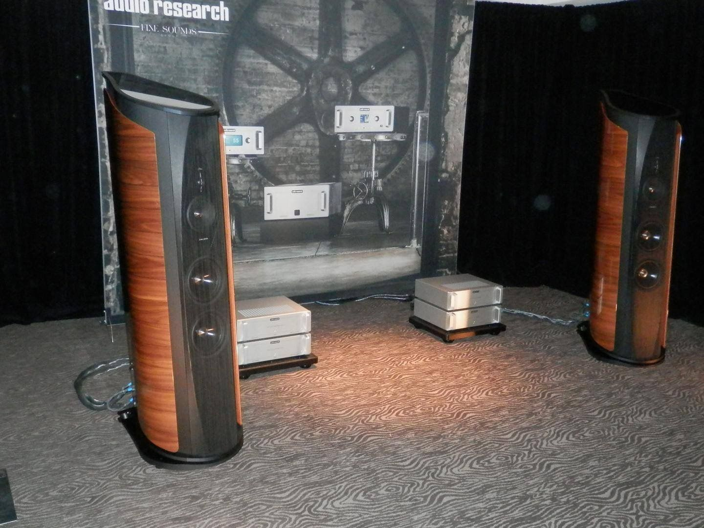 Sonus faber Aida speakers with Audio Research Corporation electronics