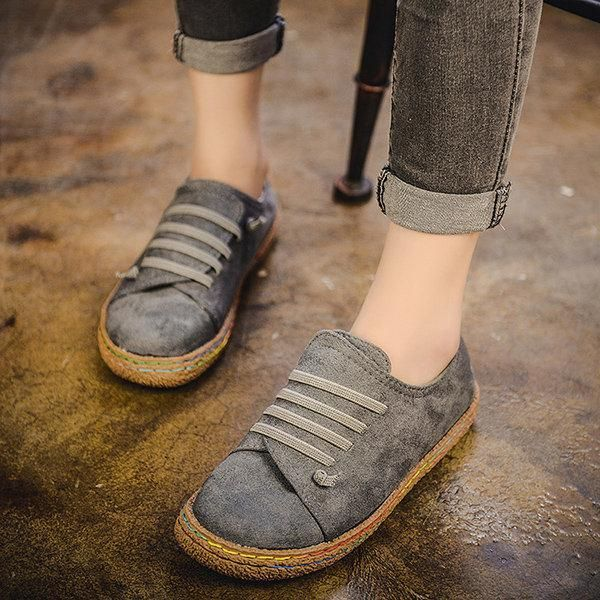 Slip On Round-Toe Vegan Loafers