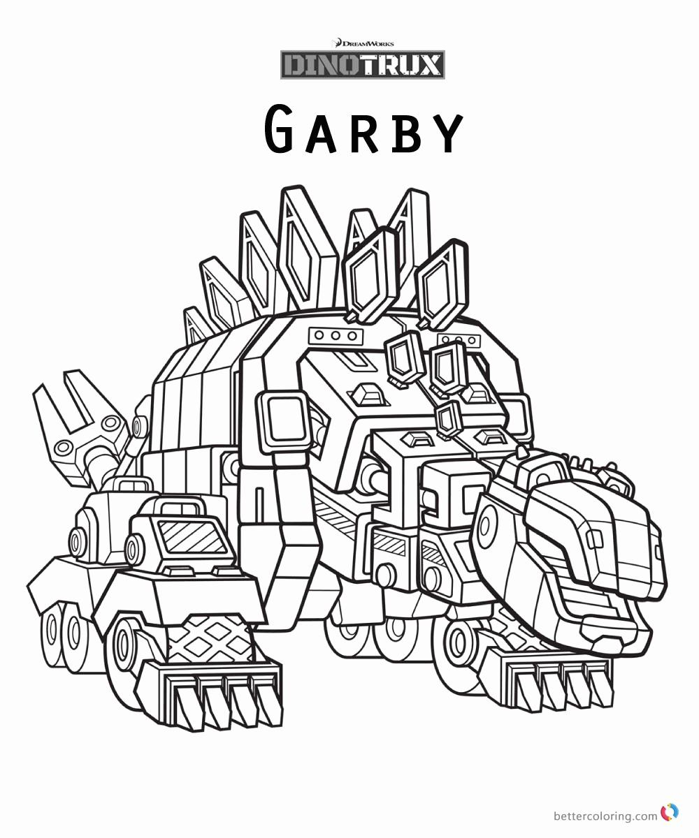Coloring Sheet Free Printable Awesome Dinotrux Garby Coloring