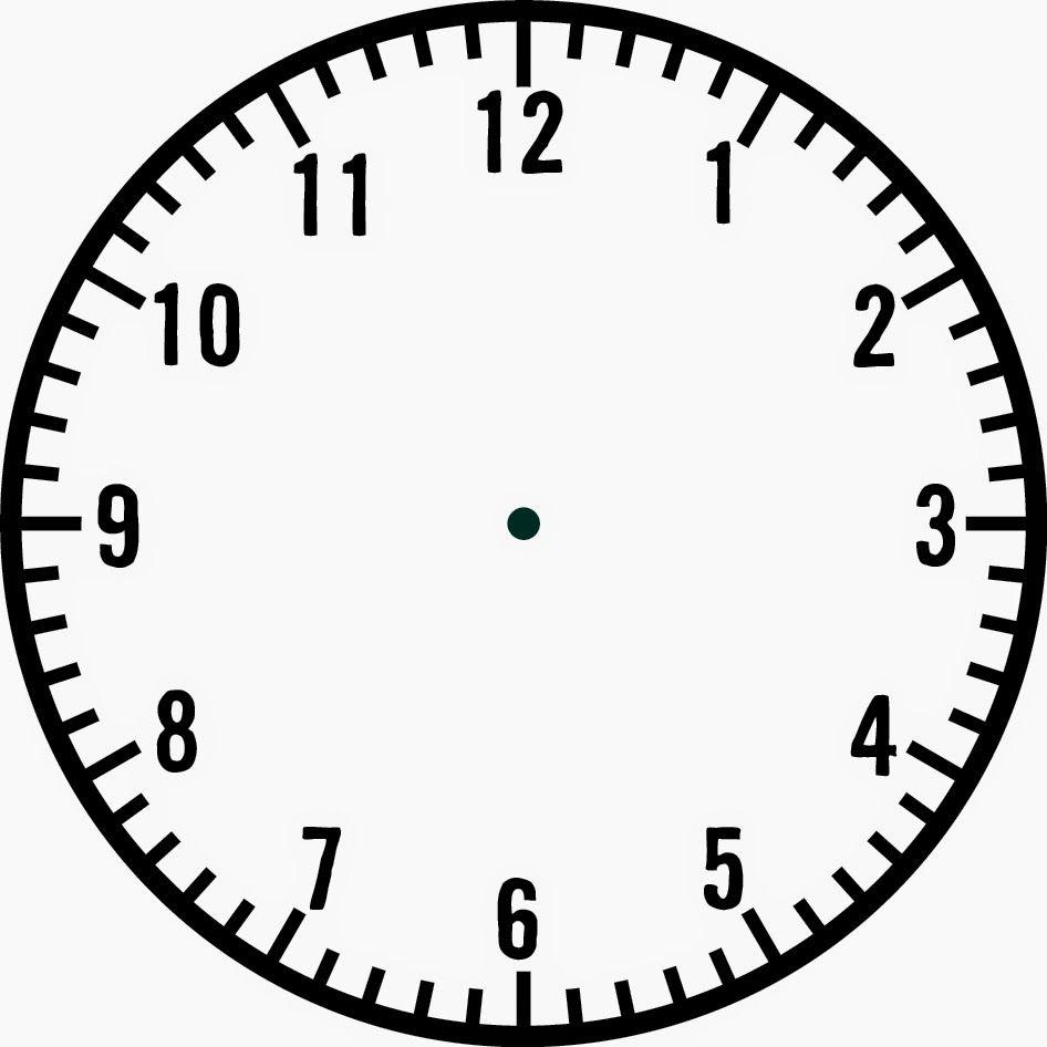 Paper Plate Clock Craft Template