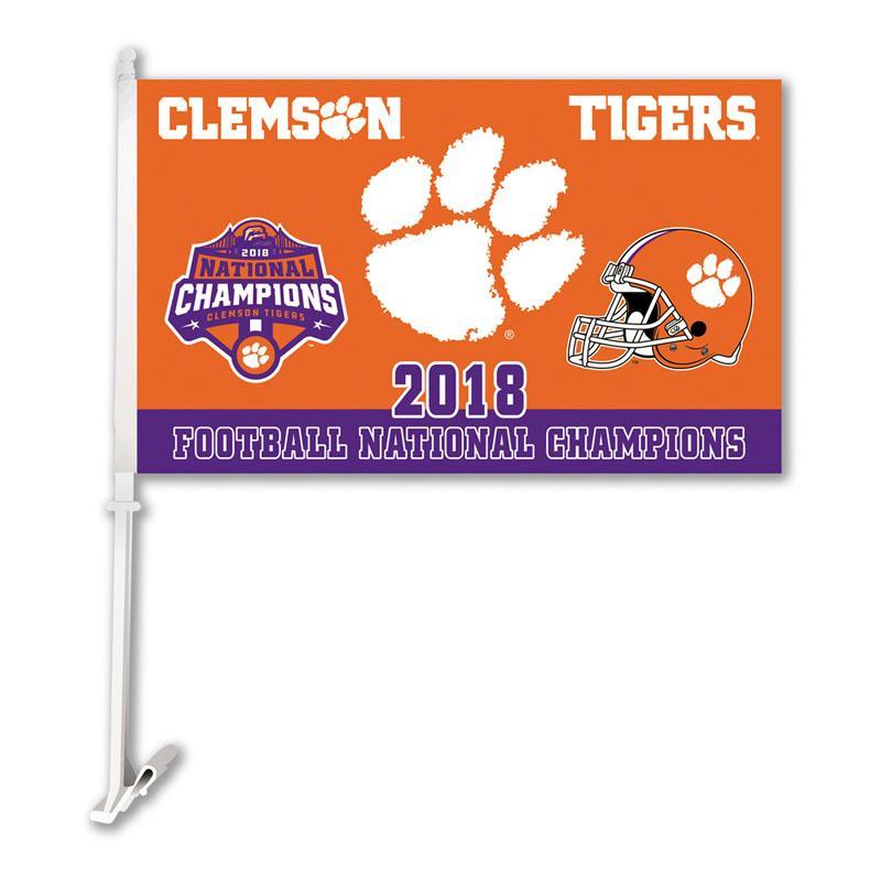 Clemson Tigers 2018 College Football Car Flag College