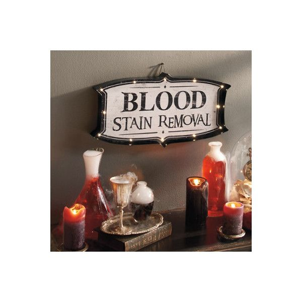 Grandin Road Blood Stain Removal Marquee Sign Halloween Decoration